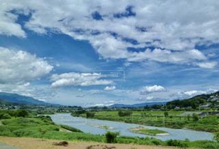 信州飯田天竜川の写真・画像素材[1136073]