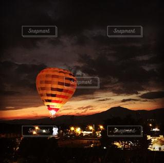 夕日,フェス,気球,夕陽