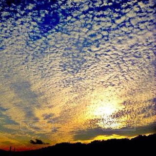 夕日,夕陽,羊雲