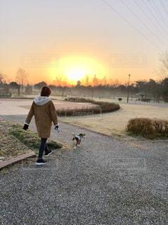 朝の散歩の写真・画像素材[2069444]