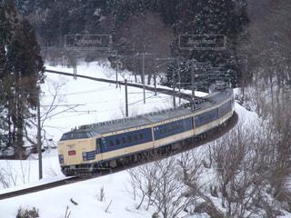 雪に覆われた鉄道の写真・画像素材[1657906]