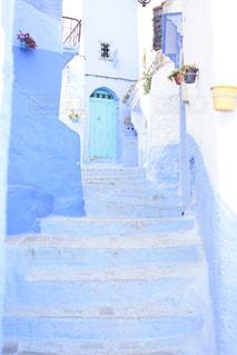 モロッコの青い街の写真・画像素材[940158]
