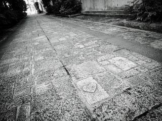 モノクロ,白黒,ハート,石畳,旅行,松江,モノクロ写真,ハートの石畳