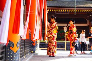 京都で着物の写真・画像素材[1666419]
