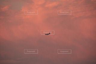 空,屋外,ピンク,雲,夕暮れ,飛行機,癒し,気分転換,夕空,無加工,常滑市,夕雲,インスタ映え,多色