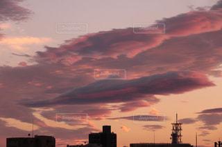 自然,屋外,ピンク,雲,癒し,気分転換,夕空,無加工,夕雲,インスタ映え,多色
