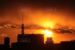 燃える空の写真・画像素材[1860493]