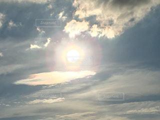 5階から見た夕日の写真・画像素材[1273983]