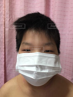 マスクで風邪予防の写真・画像素材[1672496]