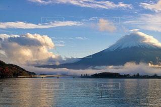 河口湖。富士山の写真・画像素材[1114819]
