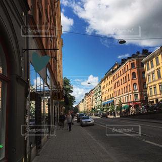 街並み,スウェーデン,ストックホルム,海外,青空,ハート,旅行,北欧