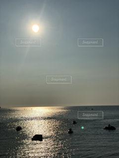 夕陽,和歌山,ジェットスキー,唐尾