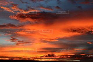 空,夕日,雲,夕焼け,カンボジア