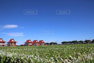 空,スポーツ,芝生,屋外,雲,草,サッカー,運動,練習,サッカー場