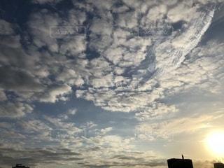 夕暮れ,横浜,うろこ雲,みなとみらい,Yokohama,秋空