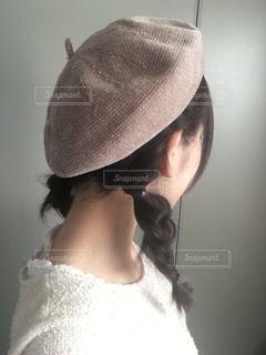 ベレー帽と三つ編みの写真・画像素材[1655992]