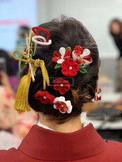 卒業式のヘアアレンジの写真・画像素材[1991021]