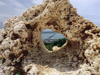 海,夏,橋,ハート,岩,古宇利島