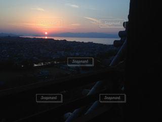 夕日,屋外,太陽,お城,景色