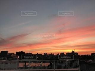 夕日,屋外,景色