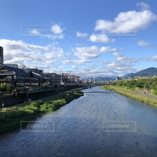 京都,雨上がり,鴨川,五条大橋