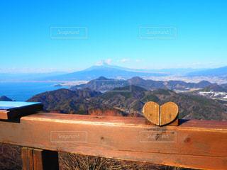 富士山,青空,山,ハート,伊豆パノラマパーク