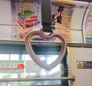 ピンク,電車,ハート,恋愛,レア,ラッキー,都電,恋愛運,ハートのつり革