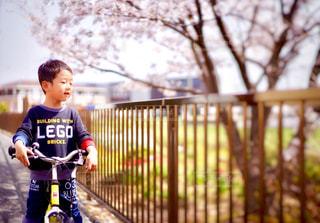 自転車に乗る少年 - No.1248340