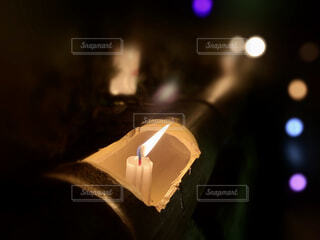 竹灯篭の写真・画像素材[4414768]