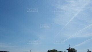 空,屋外,太陽,雲,晴れ,青空,天気,天候,日中,真夏日,蒼穹,弓形