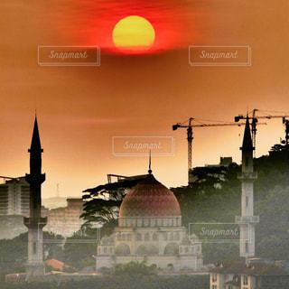 屋外,夕焼け,景色,マレーシア,モスク