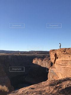 背景の山と渓谷の写真・画像素材[1119909]