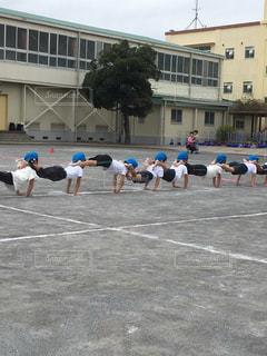 スポーツ,屋外,人,校庭,男の子,運動会,体操服,体力,組体操