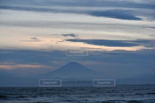 海,夕日,富士山,江ノ島