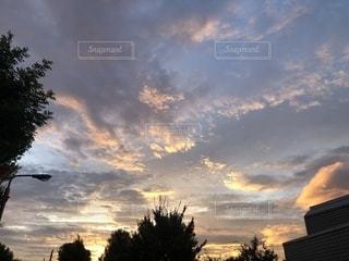 空,景色,朝焼け,秋空