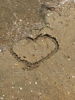 砂浜,波,ハート