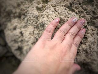 イスラエルの石に触れてみた!の写真・画像素材[1185496]
