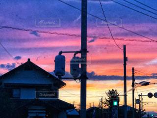 日没の前の写真・画像素材[1218154]