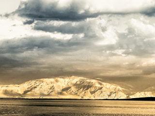 海,夕日,雲,山,夕陽,イスラエル,岩山