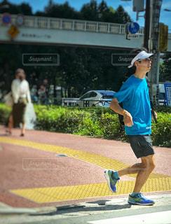 都会でジョギング!の写真・画像素材[1294450]