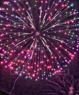 空に花火🎆の写真・画像素材[1434019]