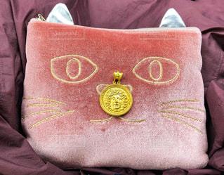 猫,ピンク,可愛い,イタリア,ポーチ,桃色,四角,コイン,耳,硬貨,猫目,四角形