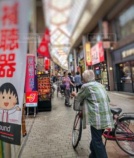 商店街にての写真・画像素材[1450441]
