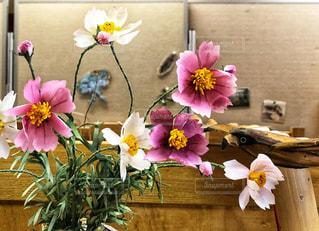 花,秋,コスモス,秋桜,手作り,可憐,造花,直売所,アートフラワー,リボンフラワー