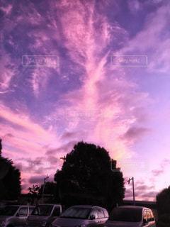 空,ピンク,雲,爽やか,朝焼け,朝,早朝,桃色,明け方