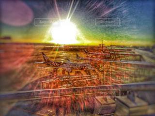 建物,太陽,飛行機,窓,ガラス,旅,空港,秋空,空の日
