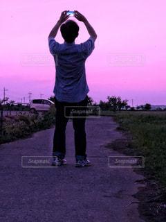 夕暮れの空の写真・画像素材[1466428]