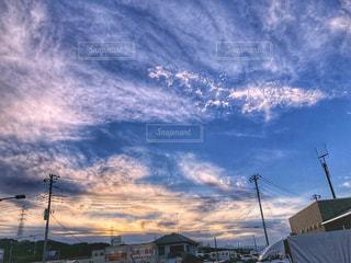 夕日,夕暮れ,夕方,景色,生き物,秋晴れ,発見,電信柱,秋空,空の日