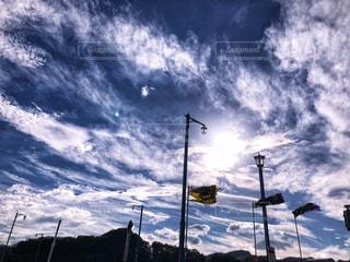 雲,青空,景色,影,シルエット,秋晴れ,秋空,神奈川県,鉄柱,空の日