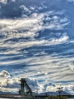 建物,雲,青空,工場,景色,屋根,秋晴れ,秋空,神奈川県,鉄柱,白雲,空の日